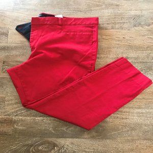Red Sloan Ankle Pants